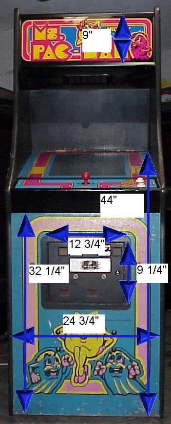 Wouter S Page Arcade Cabinet Dimensions